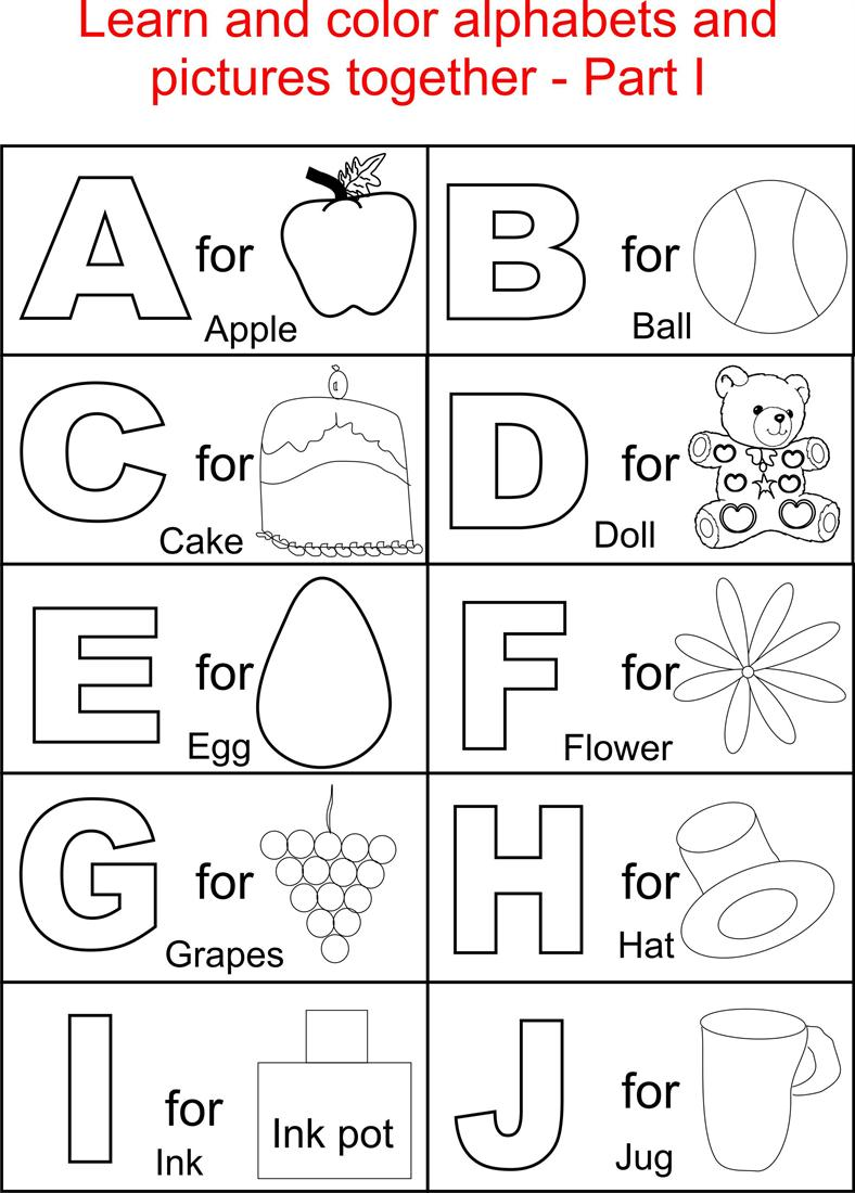 printable alphabet worksheets for toddlers