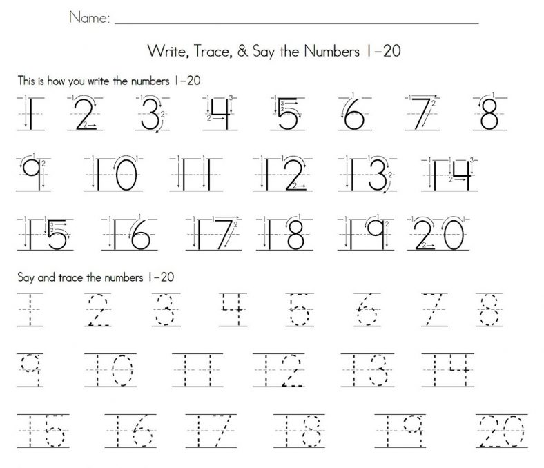 printable number tracing worksheets