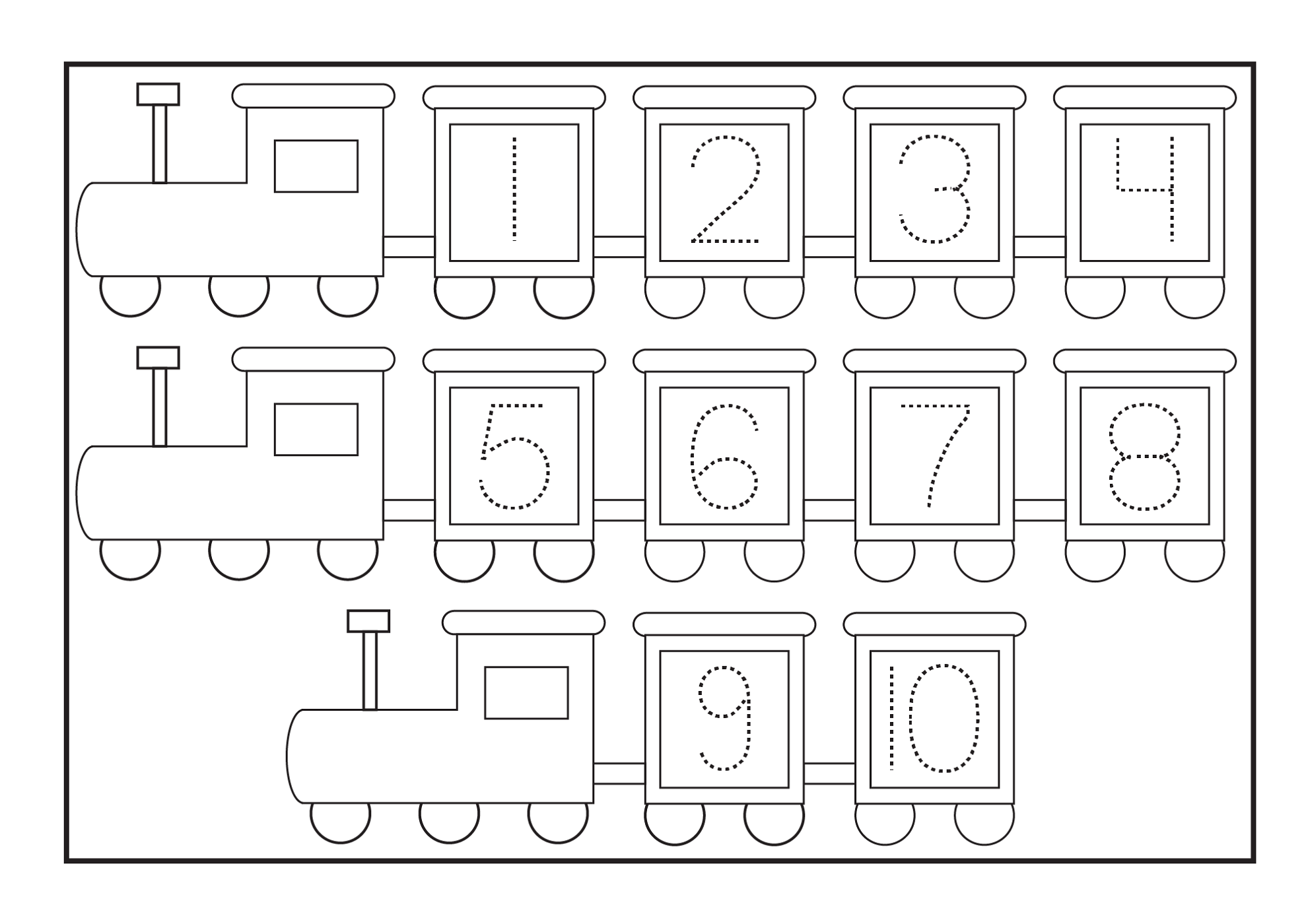 printable tracing for kindergarten