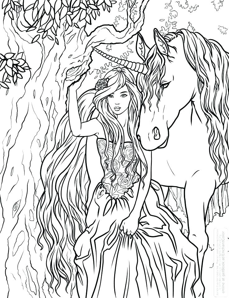 realistic unicorn coloring pages for kids