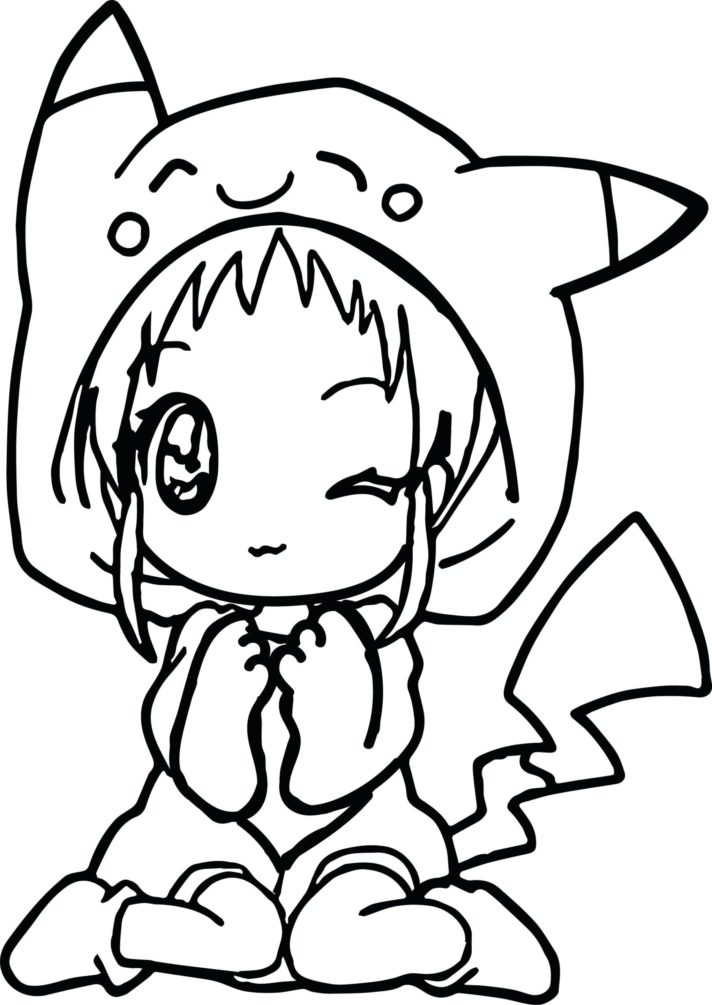anime coloring pages for kids girls