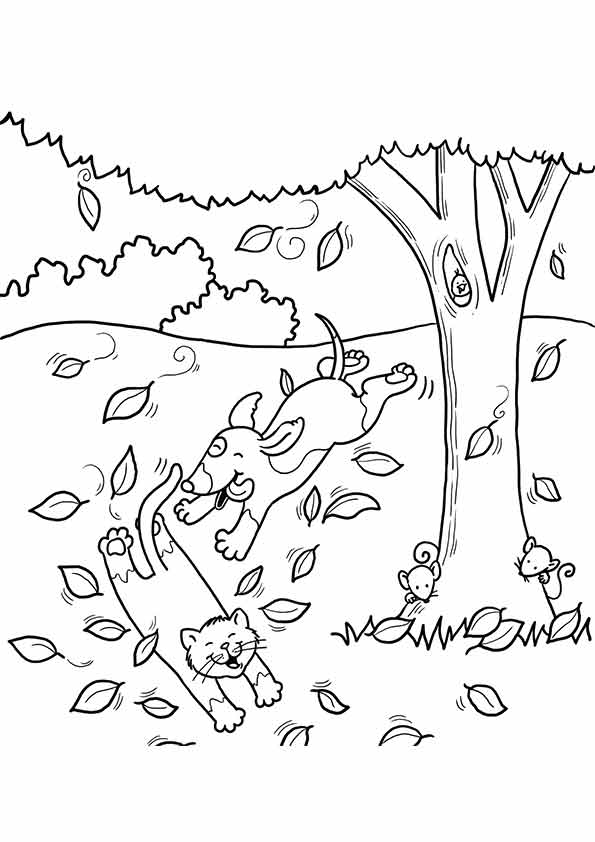 fall coloring pages for toddlers activity