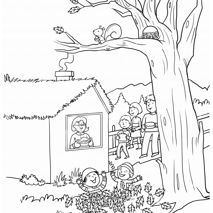 fall scene coloring pages for toddlers