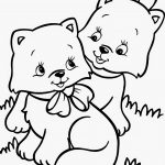 printable cute cat coloring pages