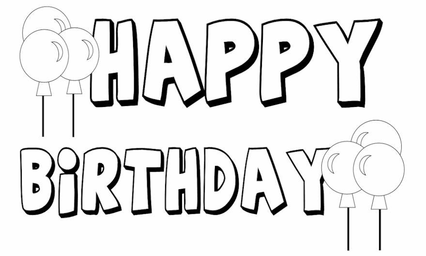 printable happy birthday coloring pages for everyone