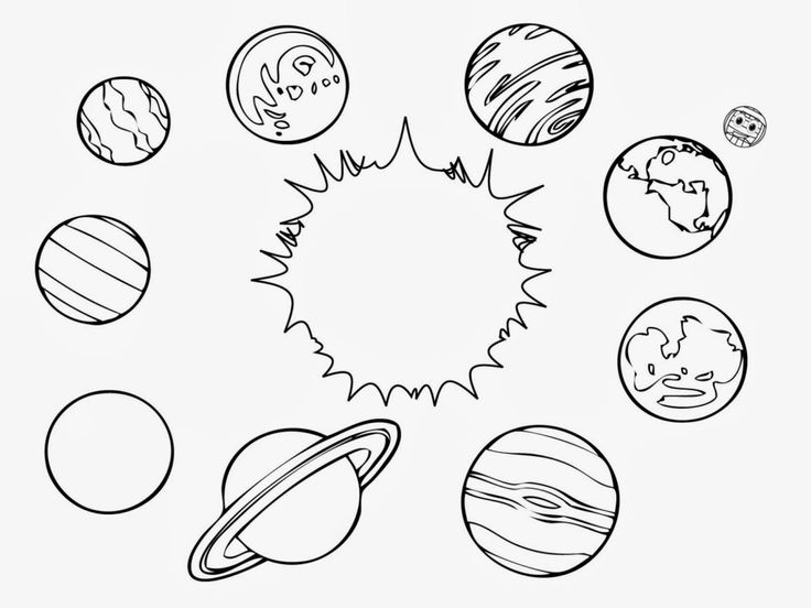 printable planets coloring pages