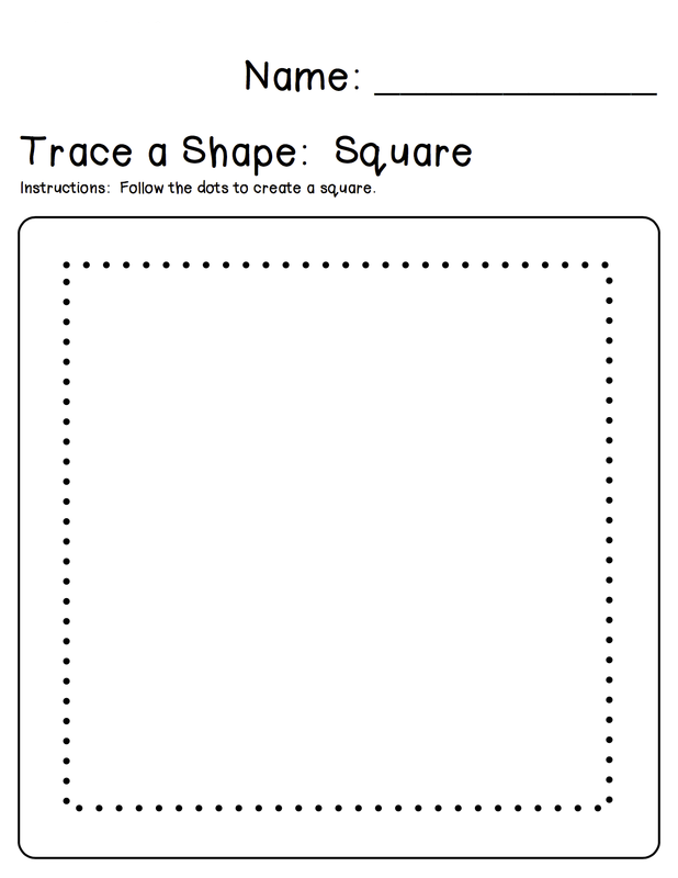 square tracing worksheet for kids
