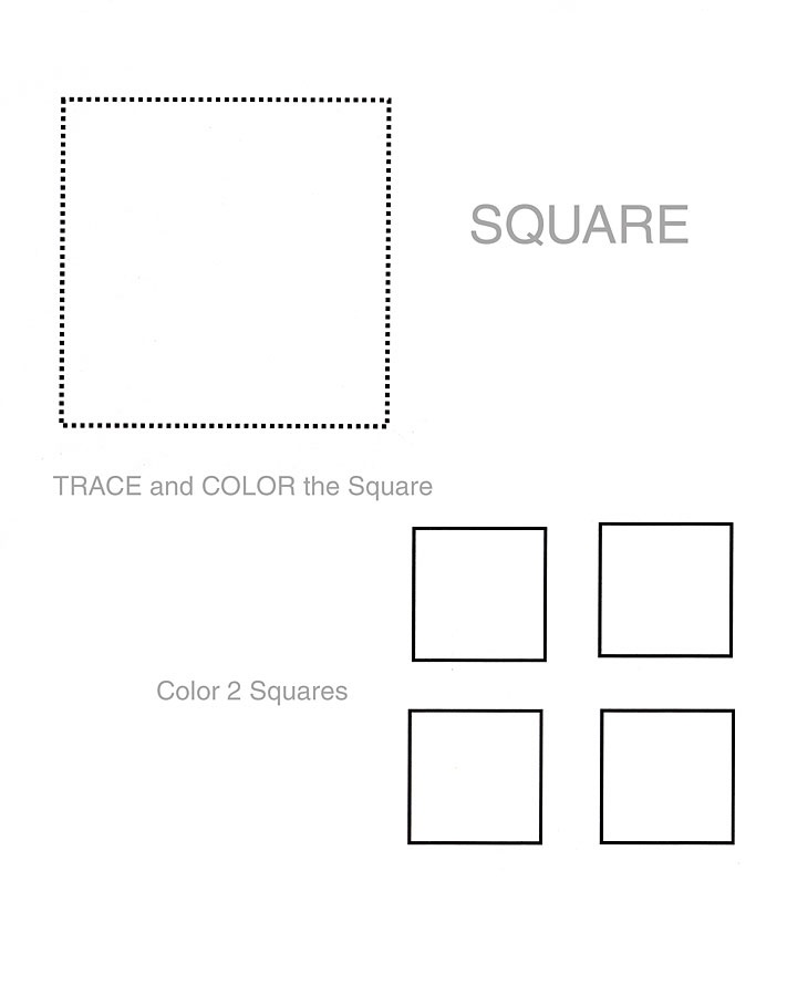 square tracing worksheet for preschool