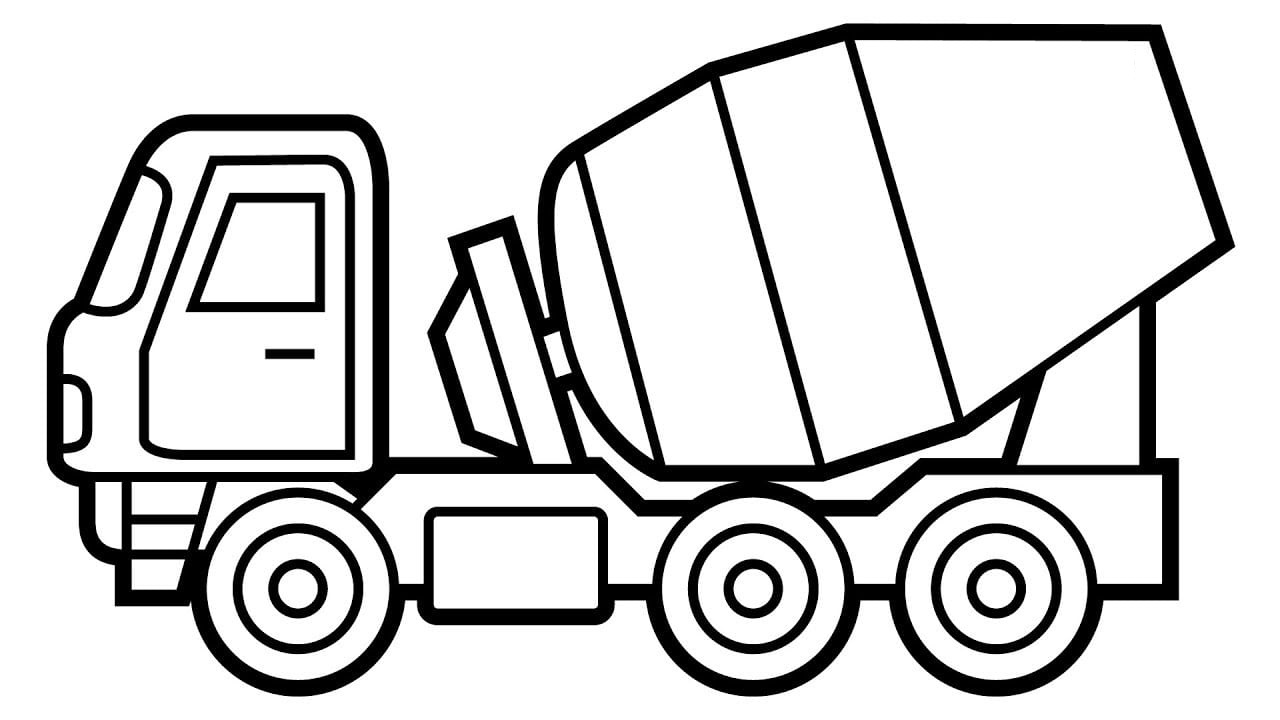 construction vehicles coloring pages for kids