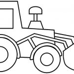 easy construction vehicles coloring pages