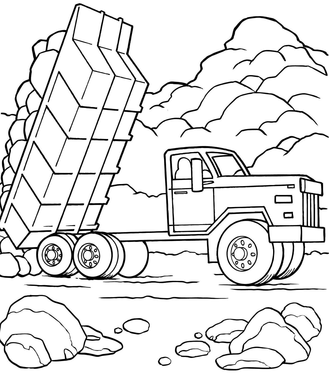 large construction vehicles coloring pages