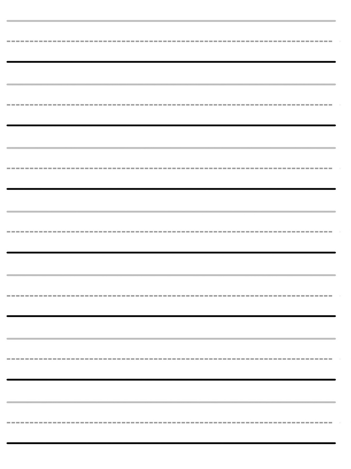 basic blank handwriting worksheets