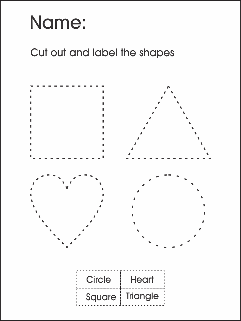 cutting shape worksheets for preschool