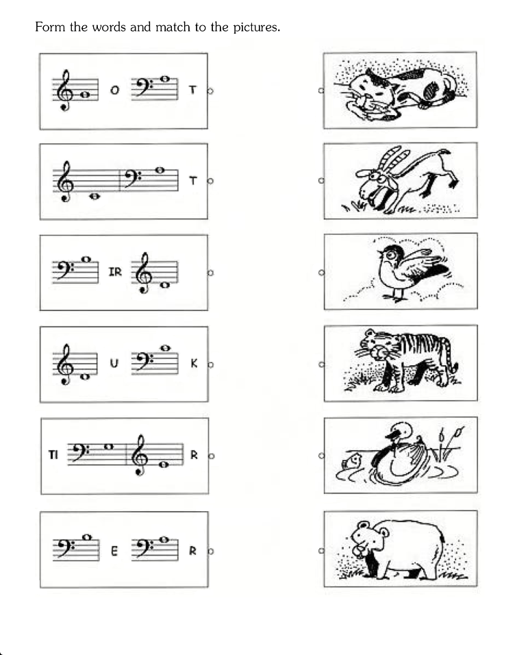 fun music worksheets for kids