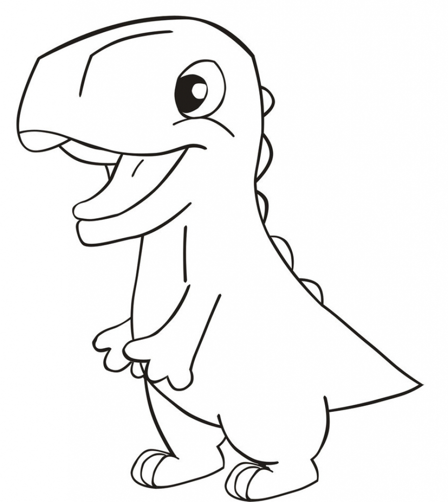 Cute Dinousaur Coloring Pages