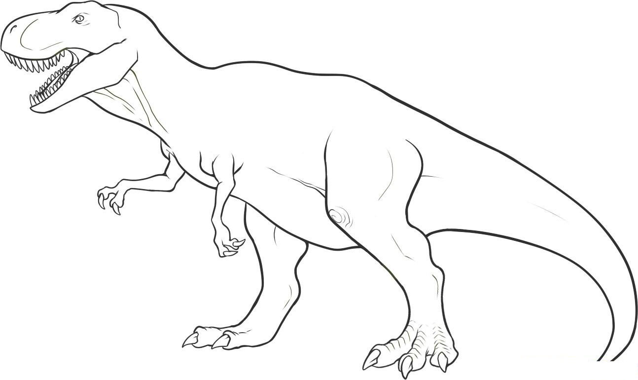 Dinousaur Coloring Pages Worksheet