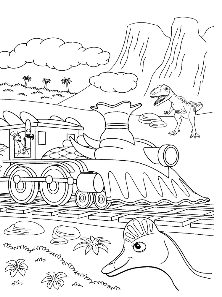Dinousaur Coloring Pages for Kids