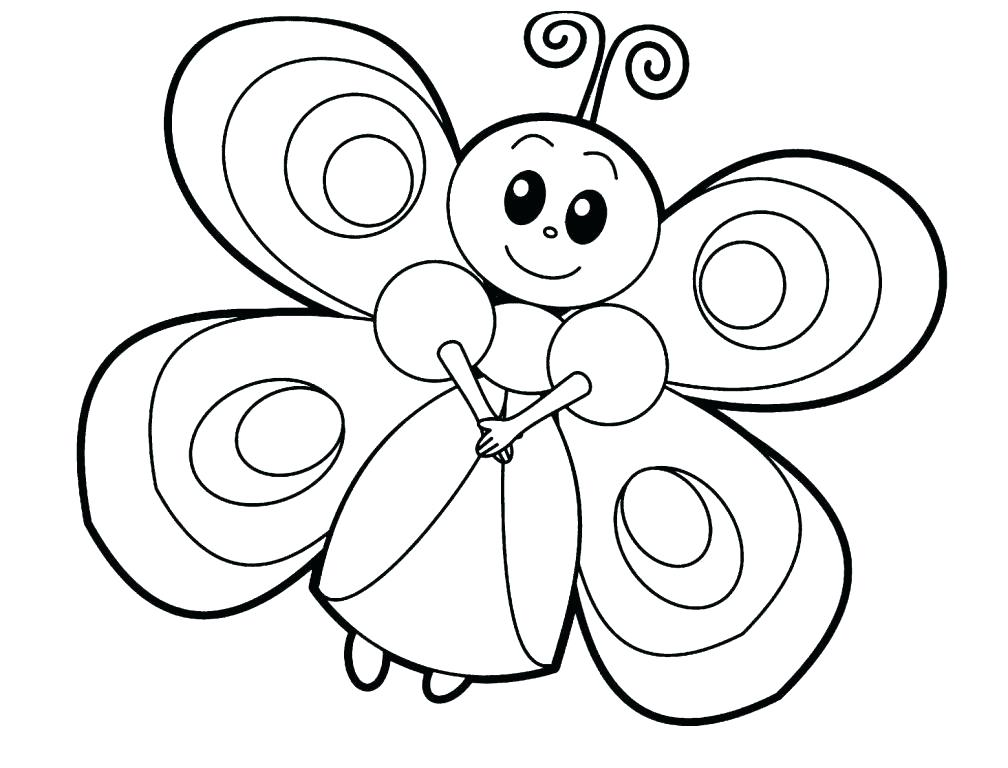 butterfly coloring pages for toddler