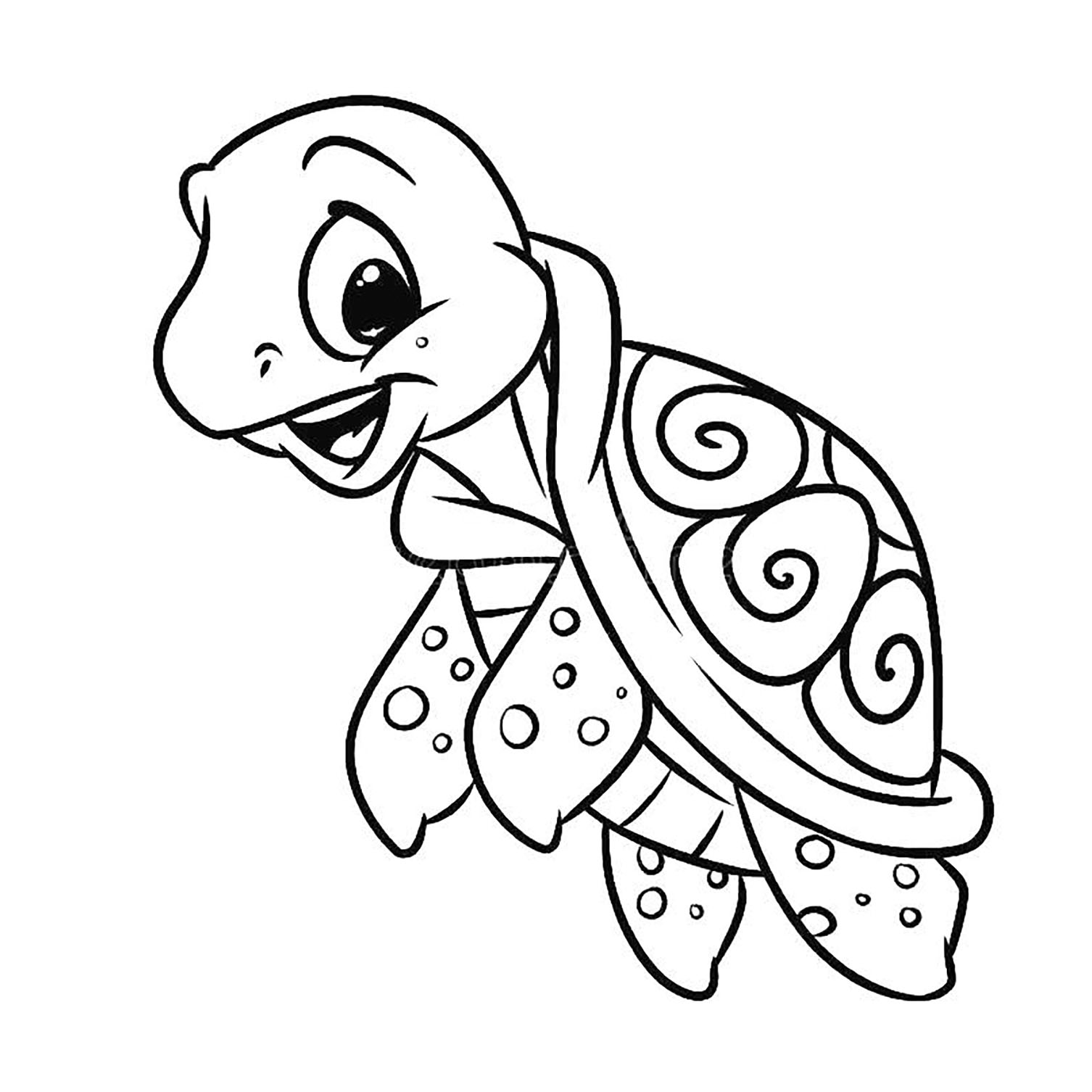 cute turtle coloring pages for kids