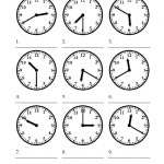 easy telling time worksheets