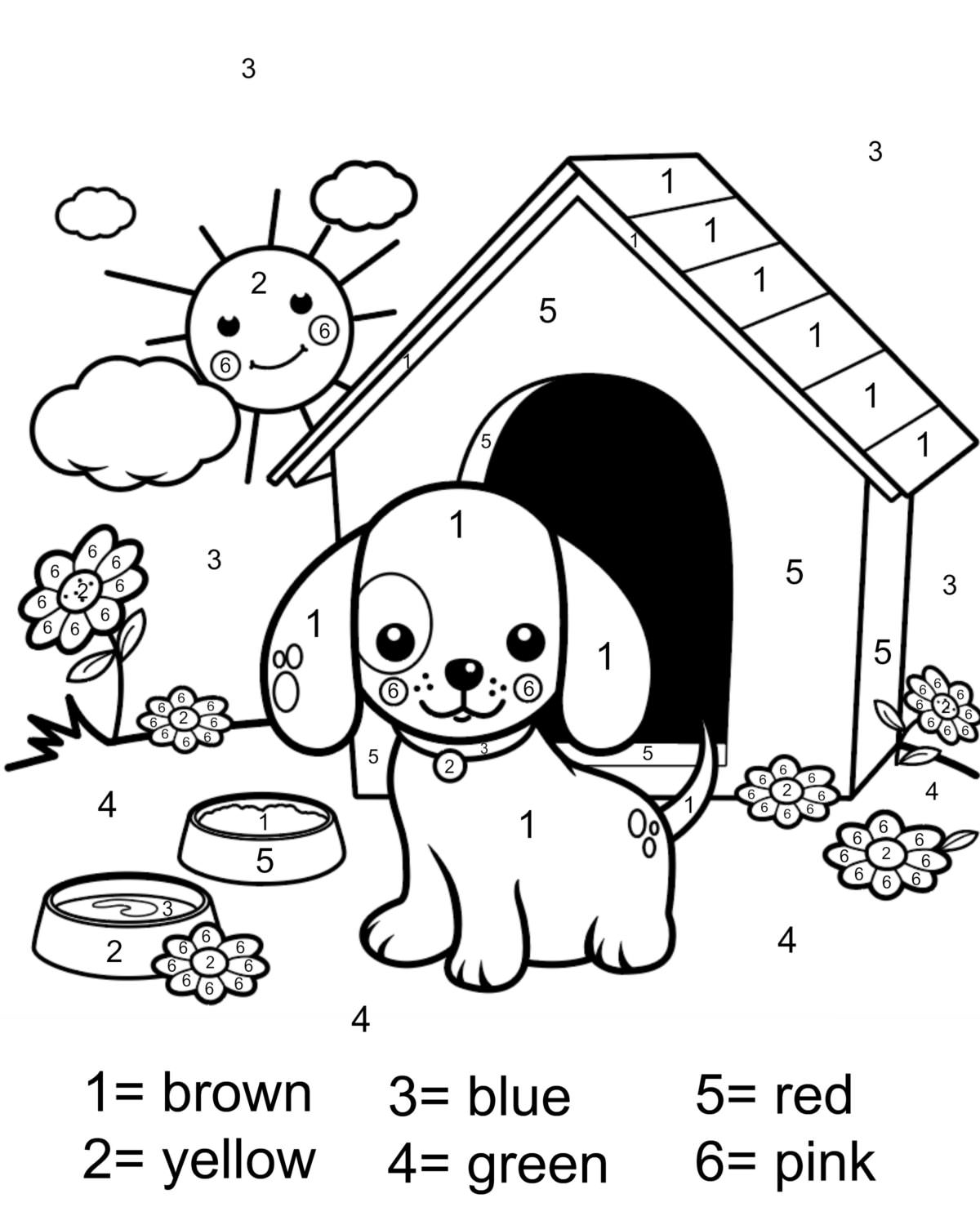 kids color by number worksheets