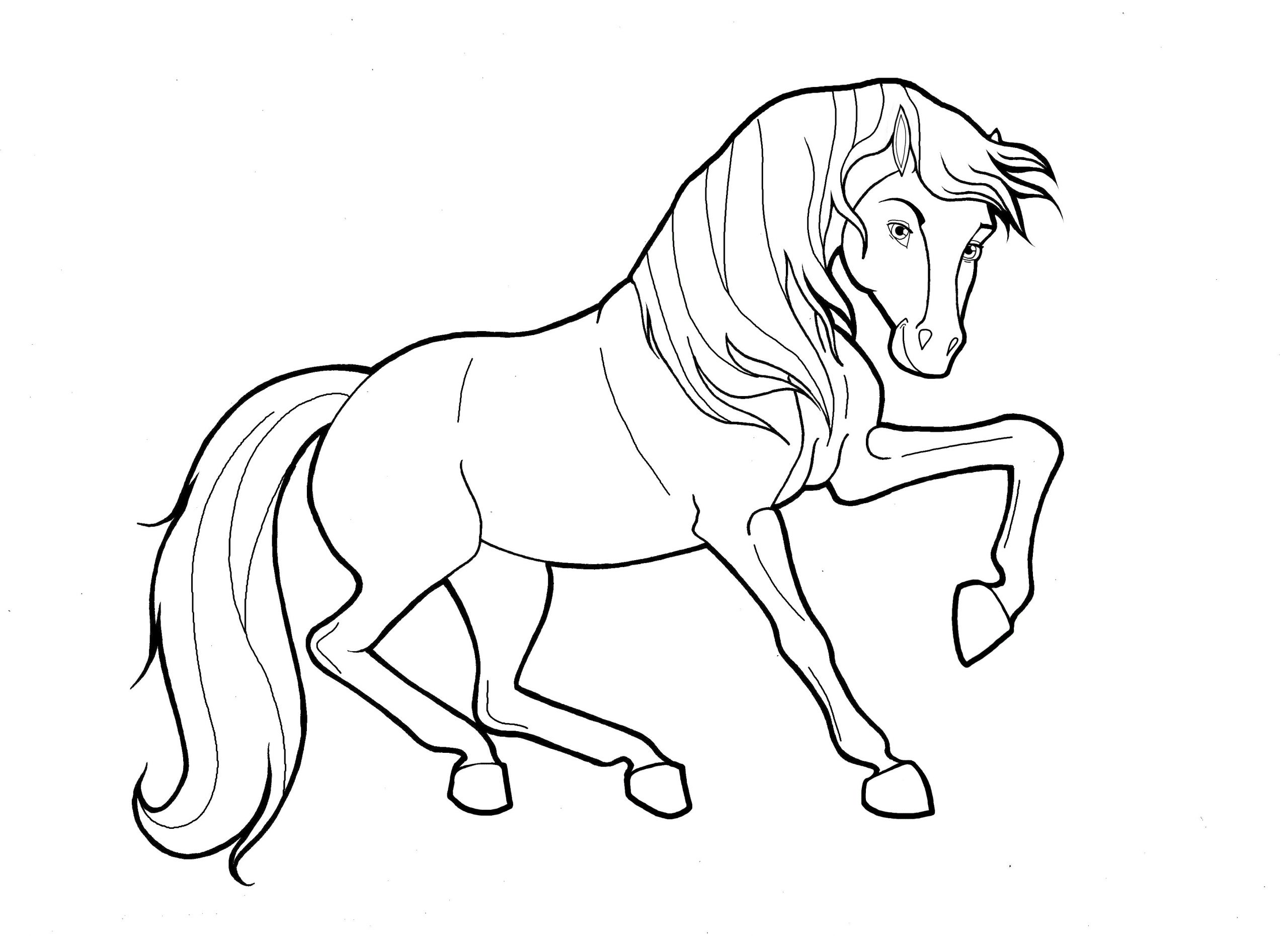 lovely horse coloring pages