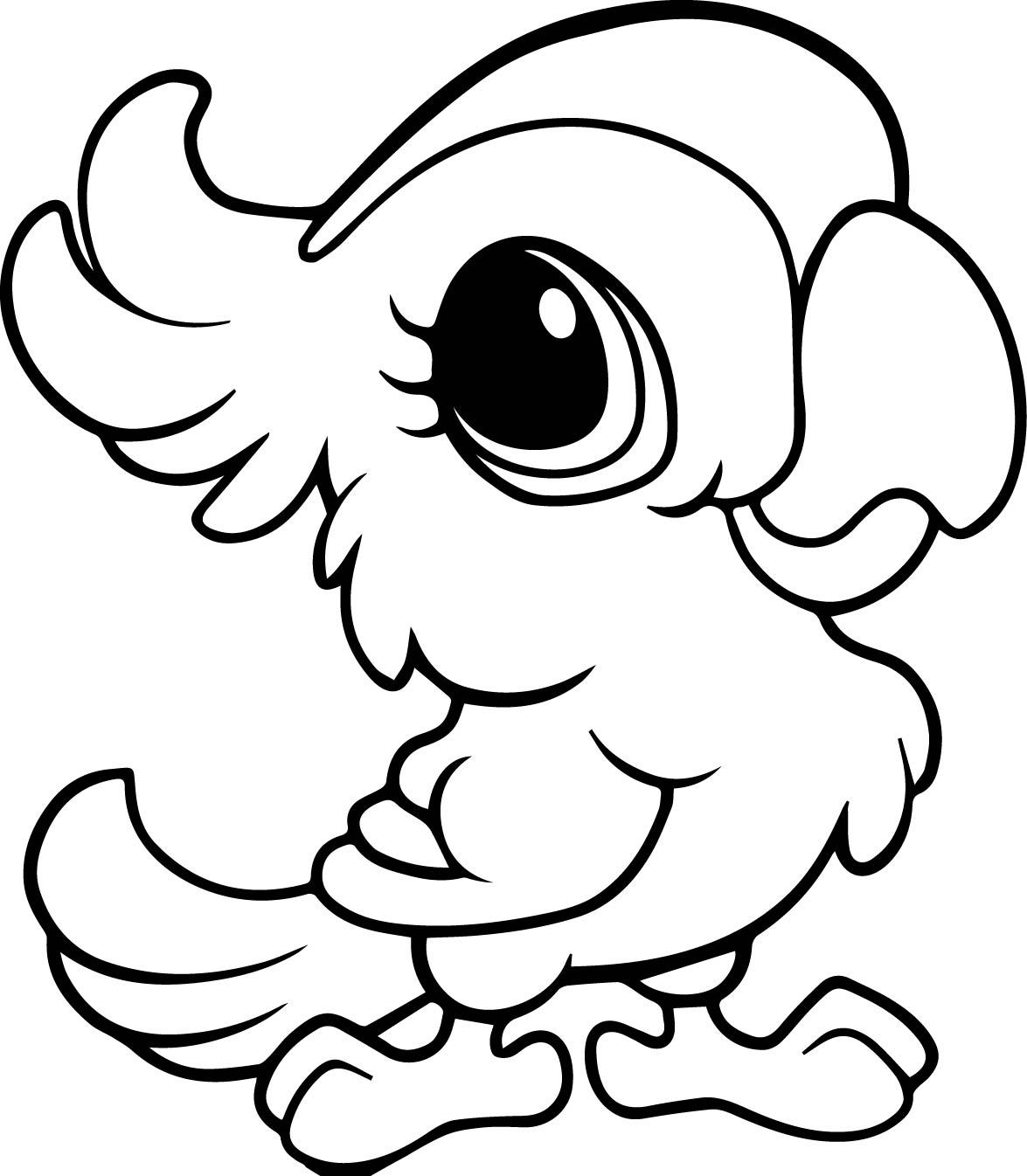printable cartoon animal coloring pages