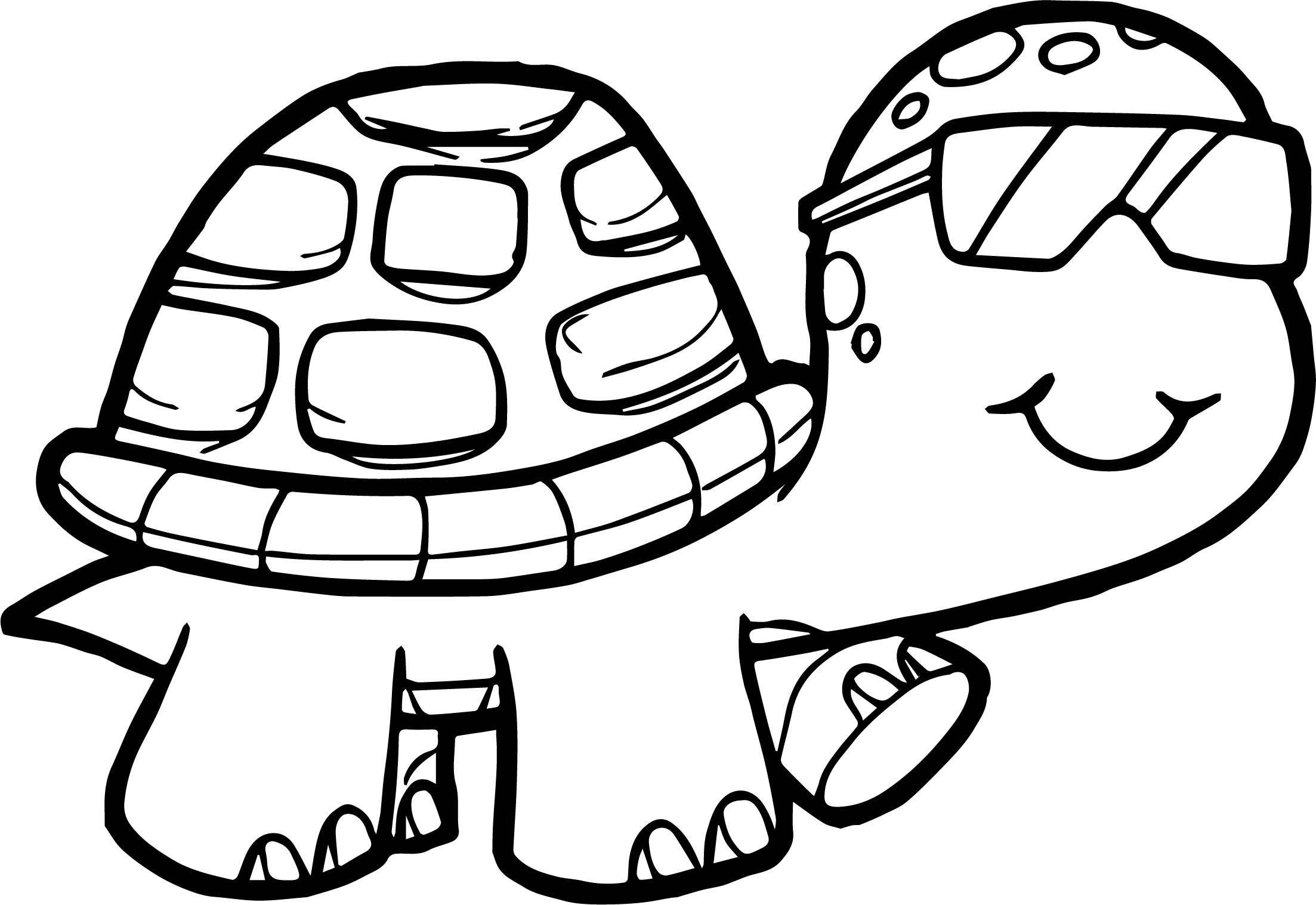 printable cute turtle coloring pages