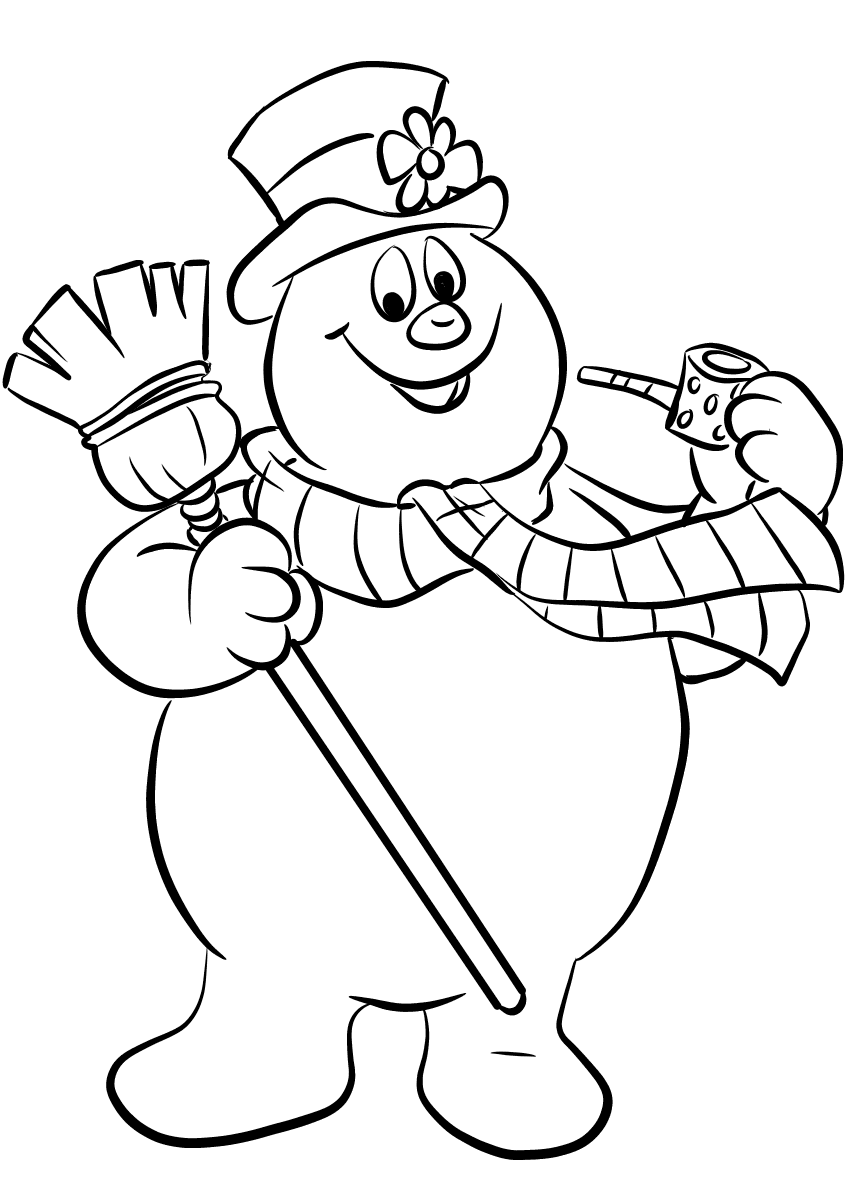 cute snowman printable coloring pages