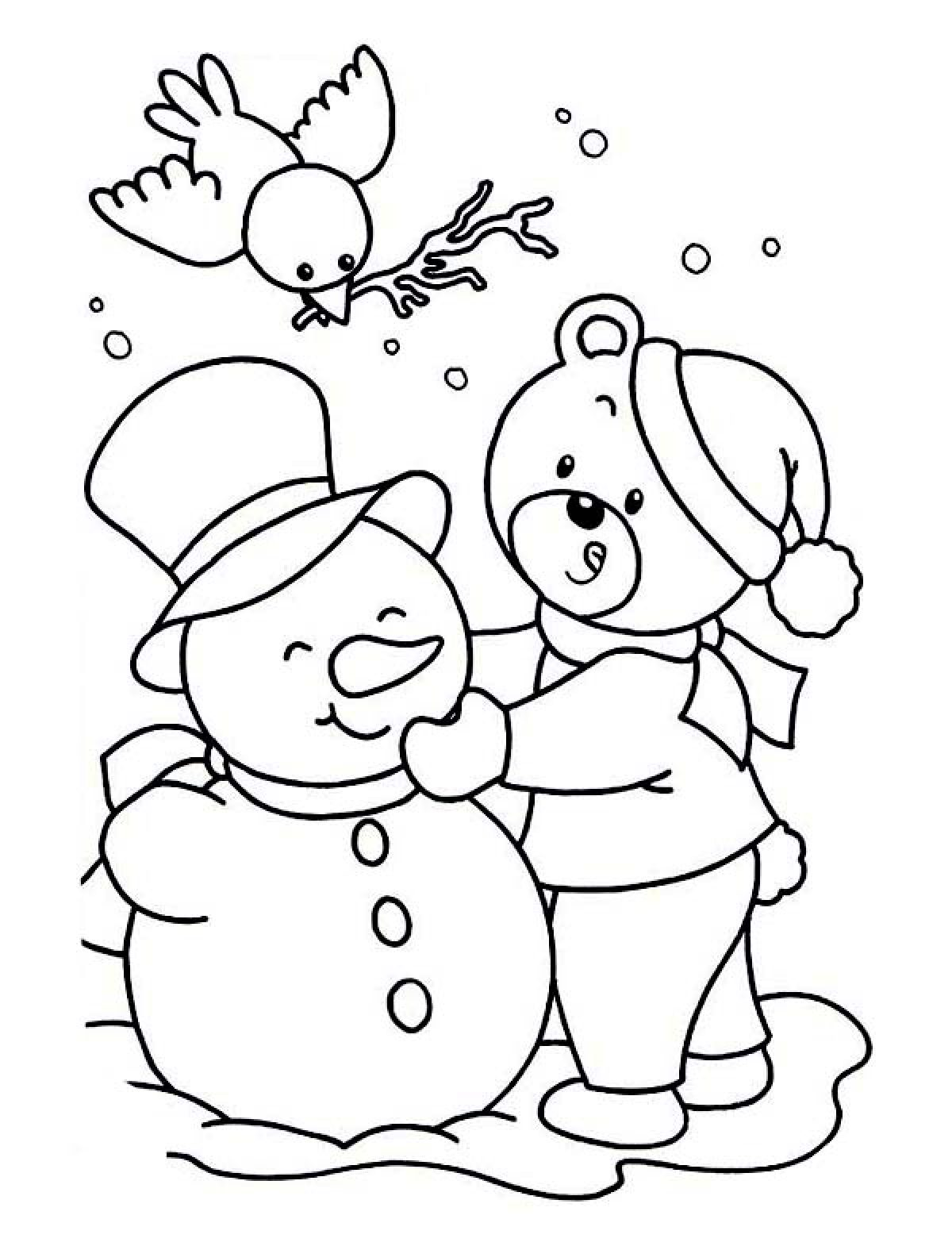 Snowman Printable Coloring Pages