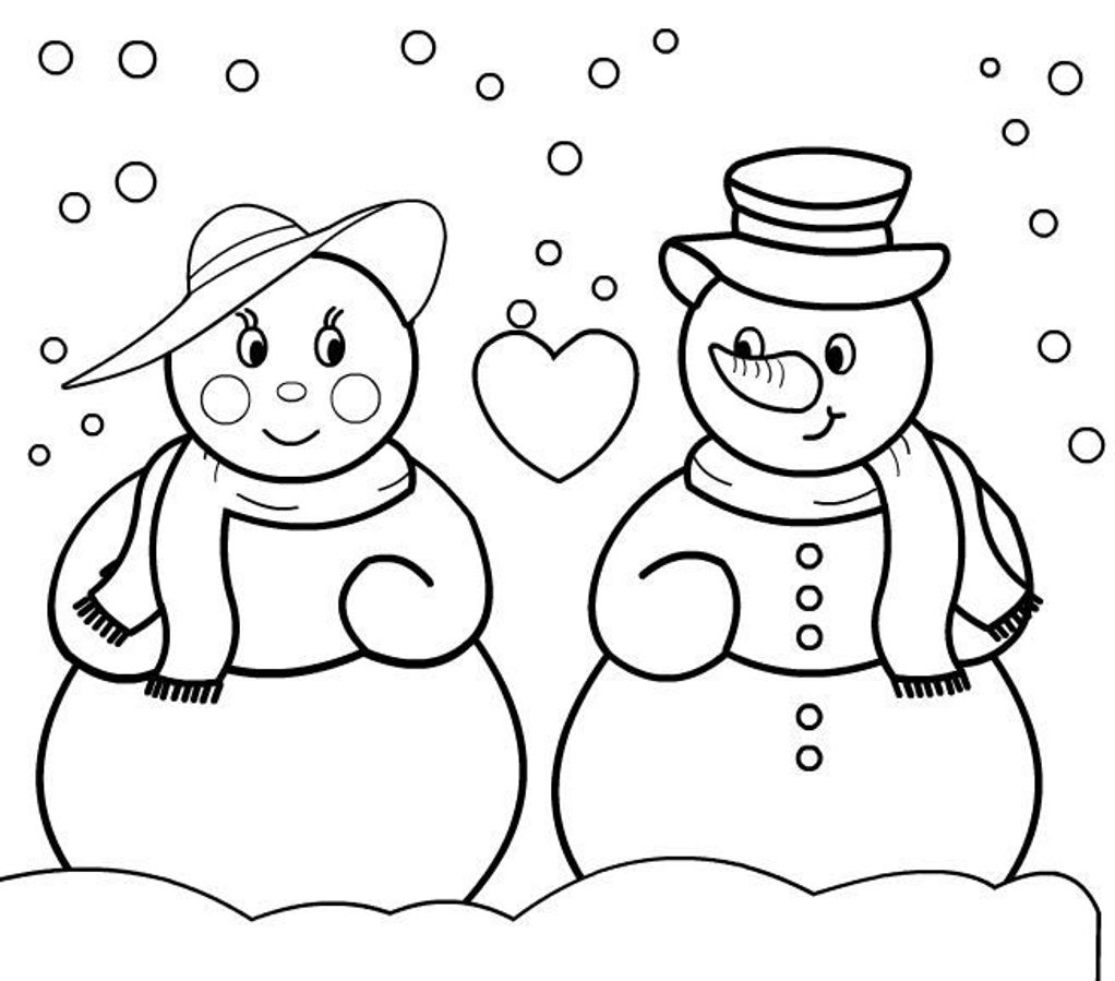 snowman printable coloring pages for kids