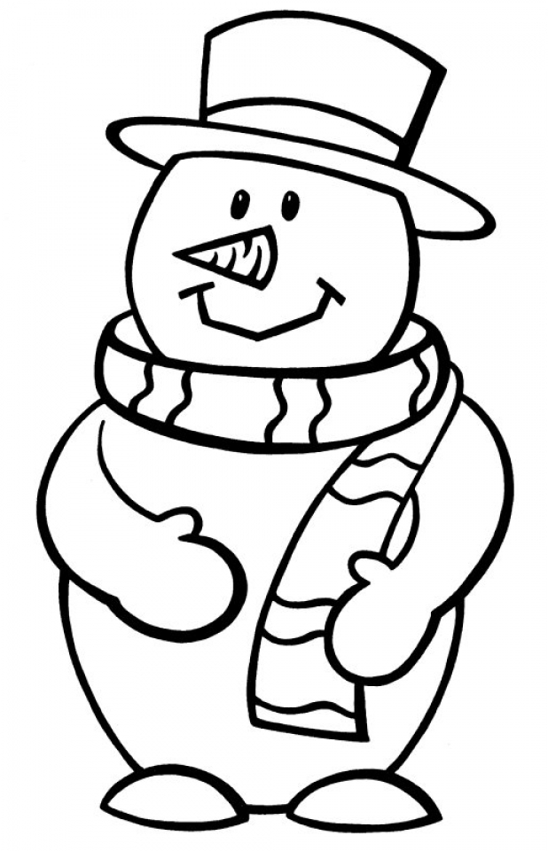 snowman printable coloring pages for toddler