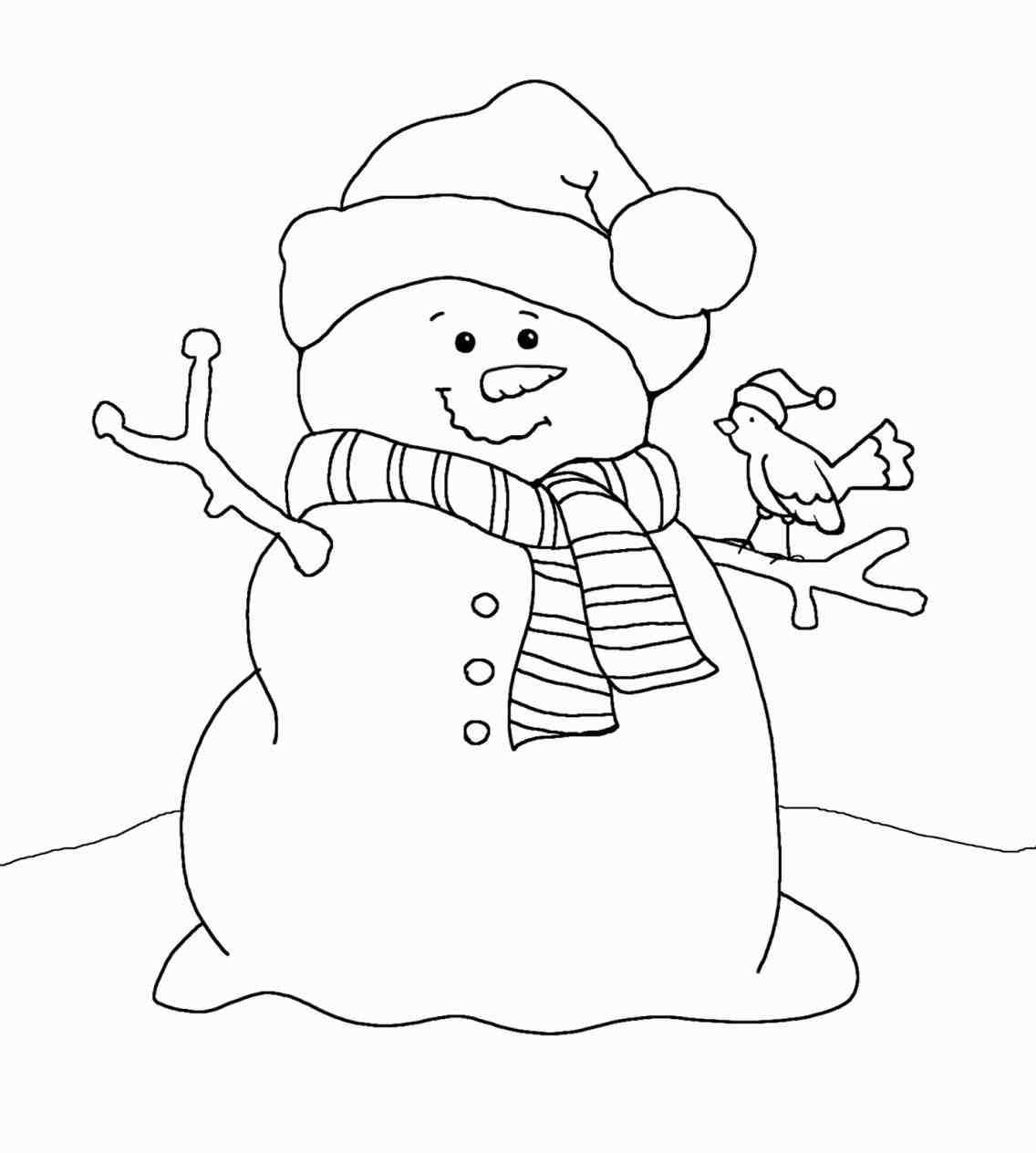 snowman printable coloring pages worksheet