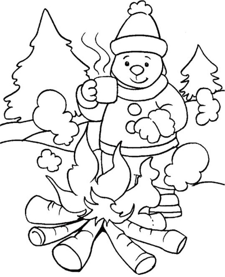 printable winter coloring sheets
