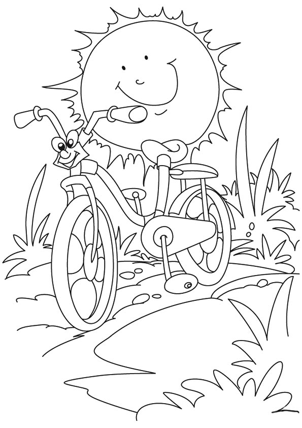 summer printable coloring pages for kids