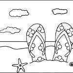 summer printable coloring pages on beach