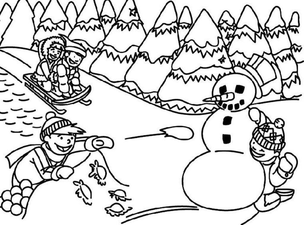 winter coloring sheets activity