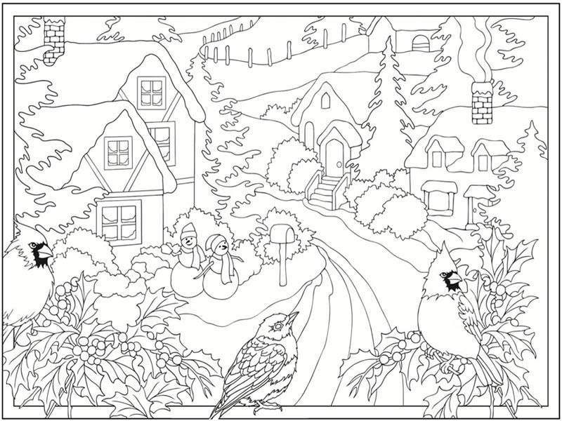 winter coloring sheets