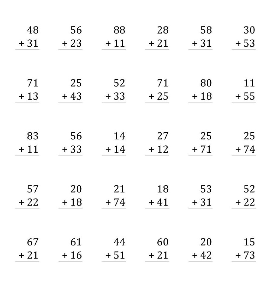 printable doubles addition worksheets