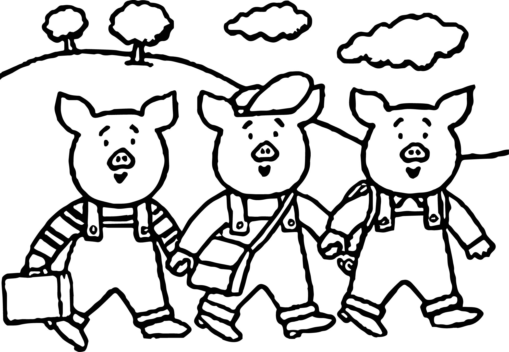 three little pigs coloring pages for toddlers education