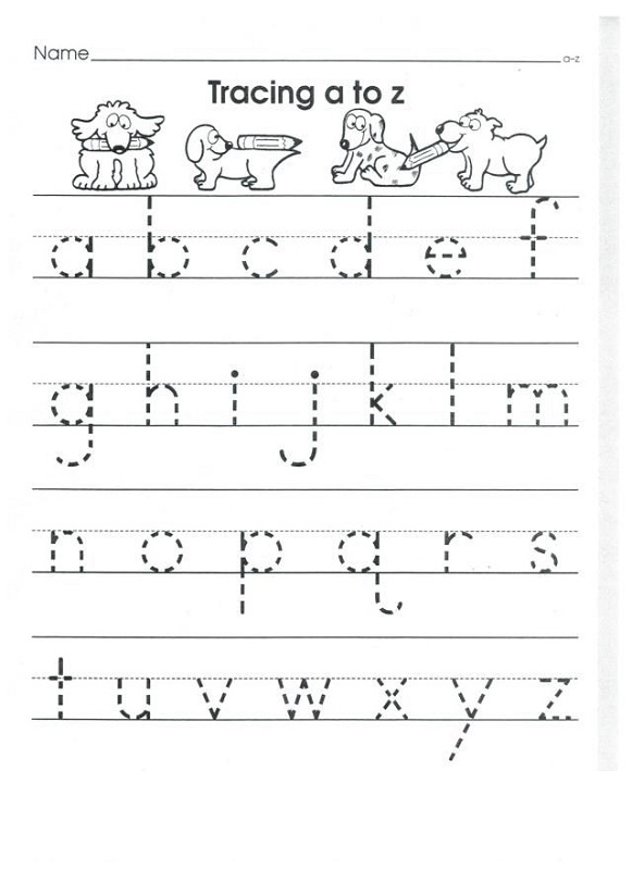 free tracing lowercase letters worksheet