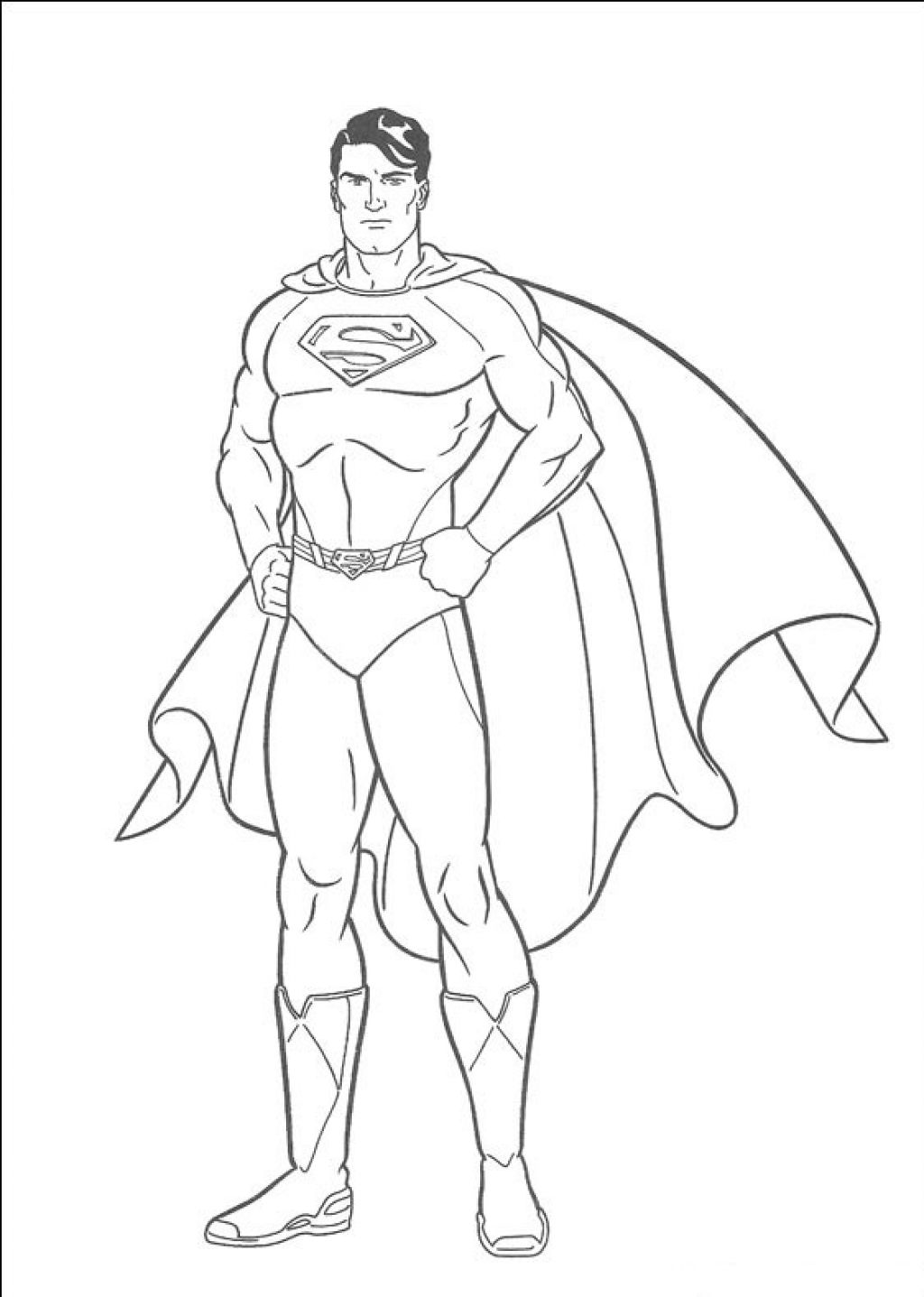 superman coloring page