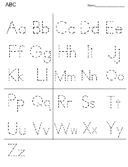 Tracing Alphabet Letters